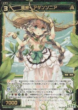 第20弾のSR植物「羅植 アダンソニア(コネクテッドセレクター)」が公開!サーチ&エナチャージ&トラッシュ送りの能力を持つ「バオバブーン」の妹分シグニ!