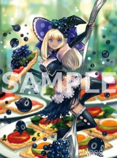 第17弾「エクスポーズドセレクター」に収録される「キャビア」をイメージさせる調理シグニがイラスト公開中!