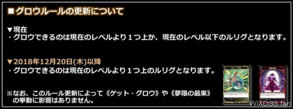 グロウルール(2018年12月20日の「レトリック」発売以降)