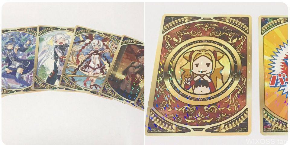 【パック特典】コインシール(アンリミテッドセレクター)の実物画像がWIXOSS公式Twitterにて公開!全56種の封入!